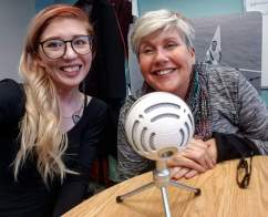 Recording a Podcast for the St.Catharines Museum's International Women's Day episode with Ruth Unrau.
